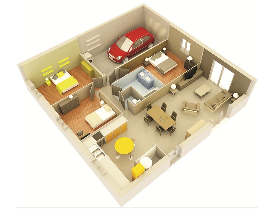 plan maison proven ale mod le agate g noise villas trident. Black Bedroom Furniture Sets. Home Design Ideas
