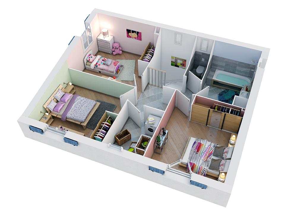 plan maison proven ale mod le camarguaise g noise villas trident. Black Bedroom Furniture Sets. Home Design Ideas