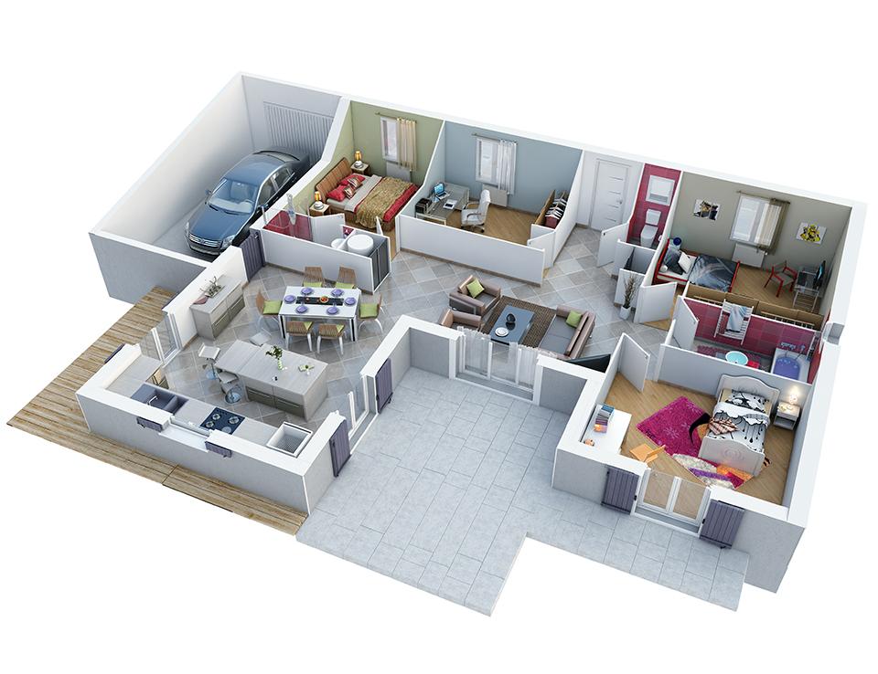 plan maison proven ale mod le marine g noise villas trident. Black Bedroom Furniture Sets. Home Design Ideas