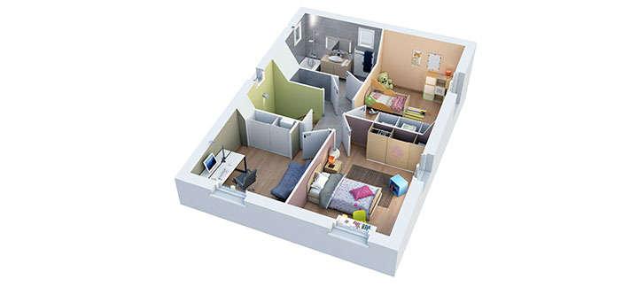 maison provencale athena etage villas trident