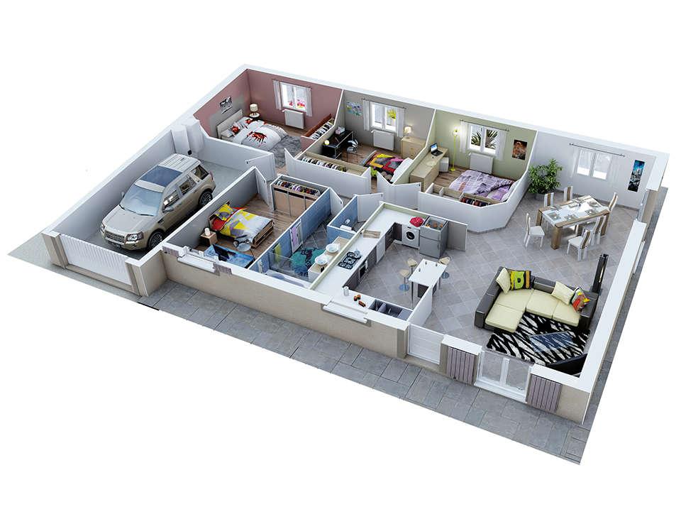 Plan maison proven ale mod le rubis g noise villas trident - Plan de maison provencale ...