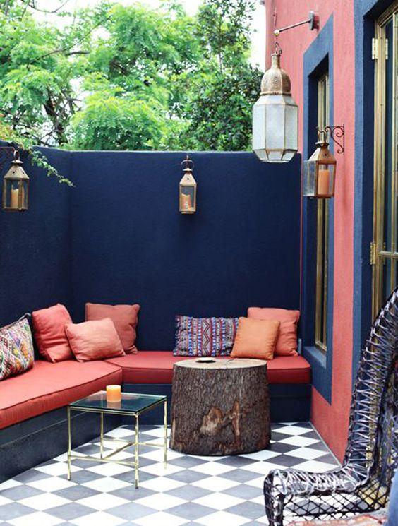 Terrasse colorée