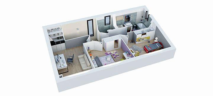 maison provencale cairanne plan etage villas trident