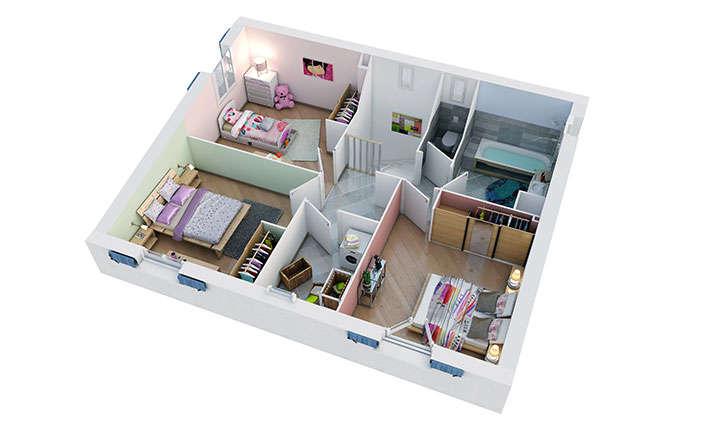 maison provencale camarguaise etage villas trident