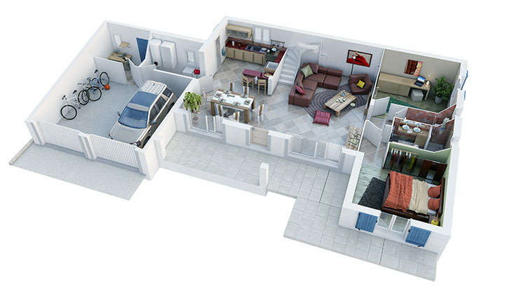 maison provencale camarguaise rdc villas trident