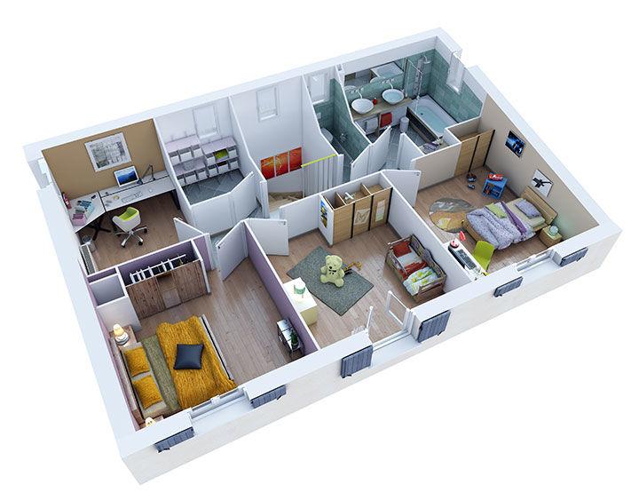 maison provencale castellet etage villas trident