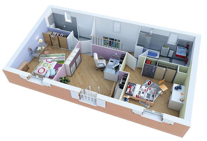 maison provencale joncquiere etage villas trident