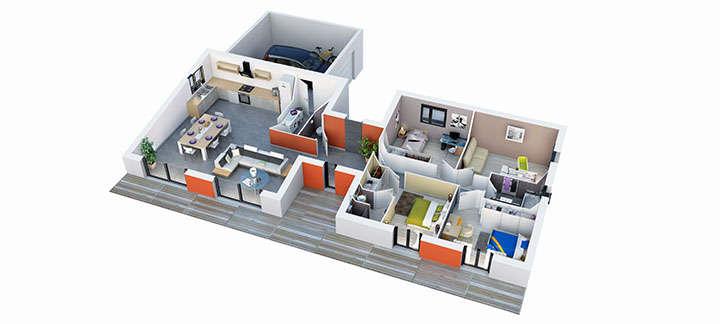 maison provencale lioux plan villas trident