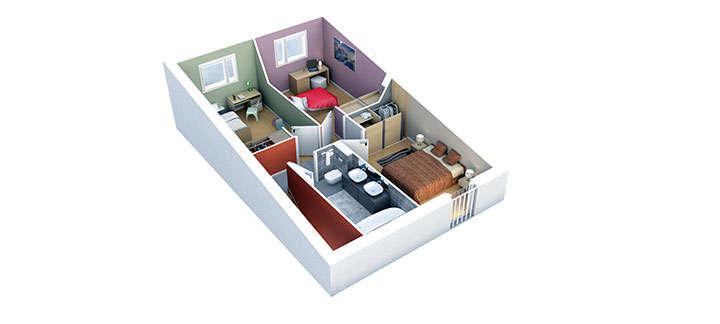 maison provencale mazan plan etage villas trident