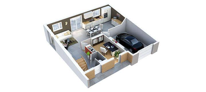 maison provencale mazan plan rdc villas trident